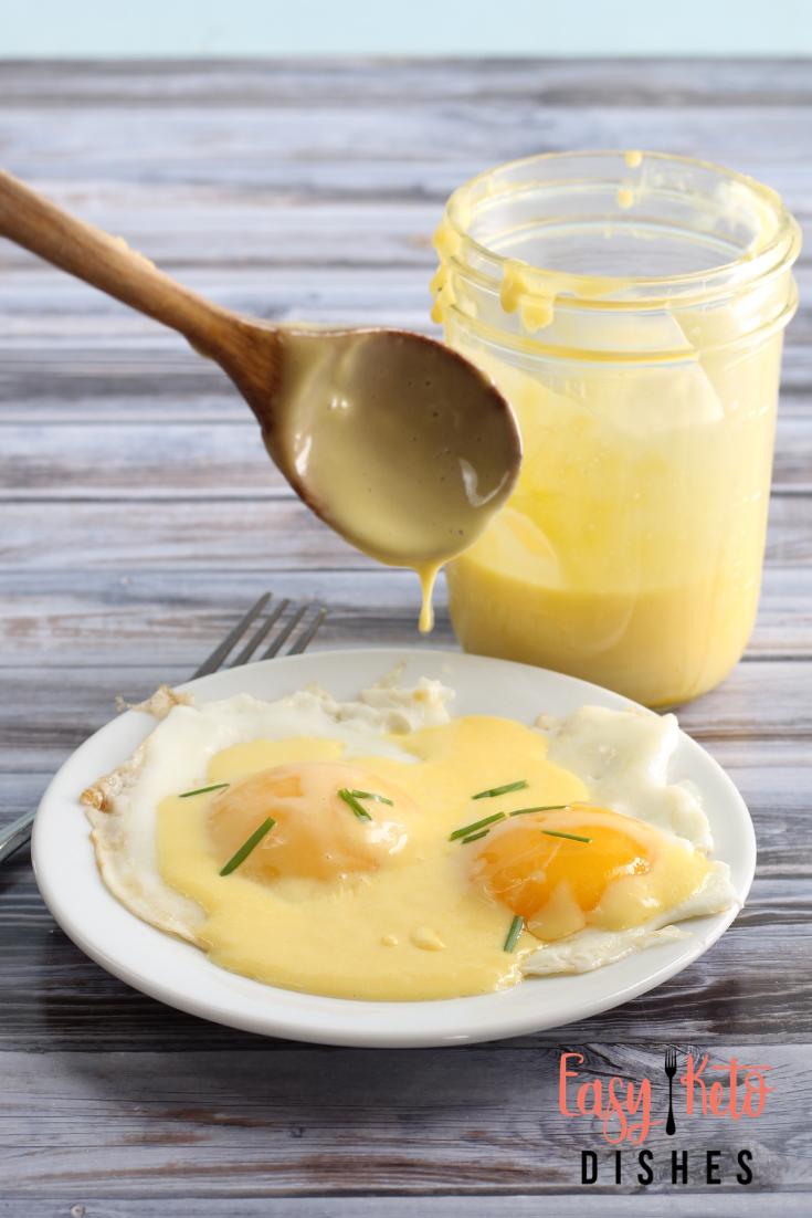 Easy Hollandaise Sauce (low carb, keto friendly) * Easy Keto Dishes #hollandaisesauce