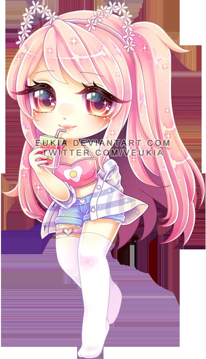 G Hani By Eukia Anime Wolf Girl Chibi Girl Drawings Cute Anime Chibi