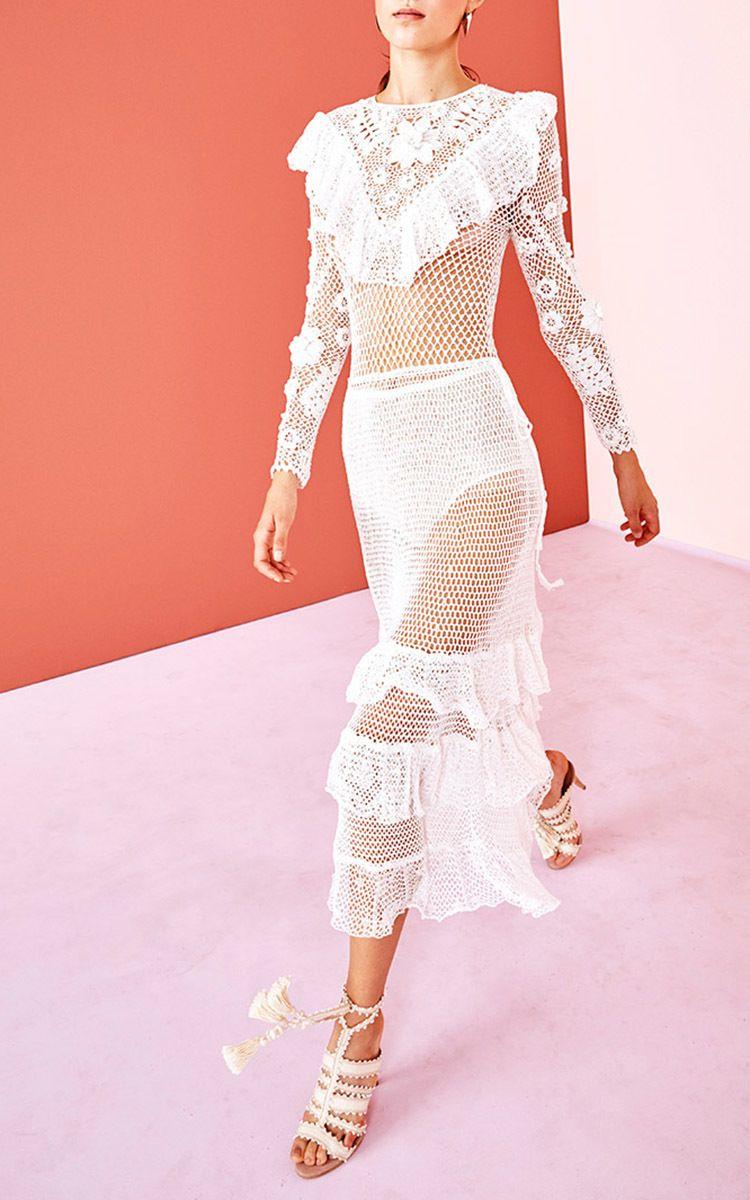 CLIQUE para tela cheia | Crochet dresses | Pinterest | Vestido largo ...