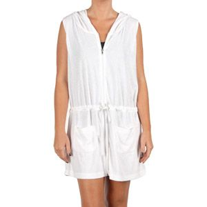 9666c869f635c Catalina Women s Plus-Size Terry Cloth Hooded Vest Swim Cover-Up I assume  white would be best..Terry cloth would be good for sun protection and to  dry me ...