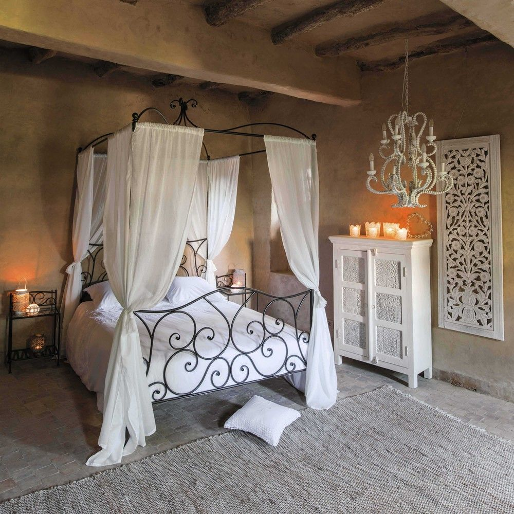 Maison Du Monde Letto A Baldacchino.Beds Bedside Tables Headboards In 2020 Rustic Bedroom Design