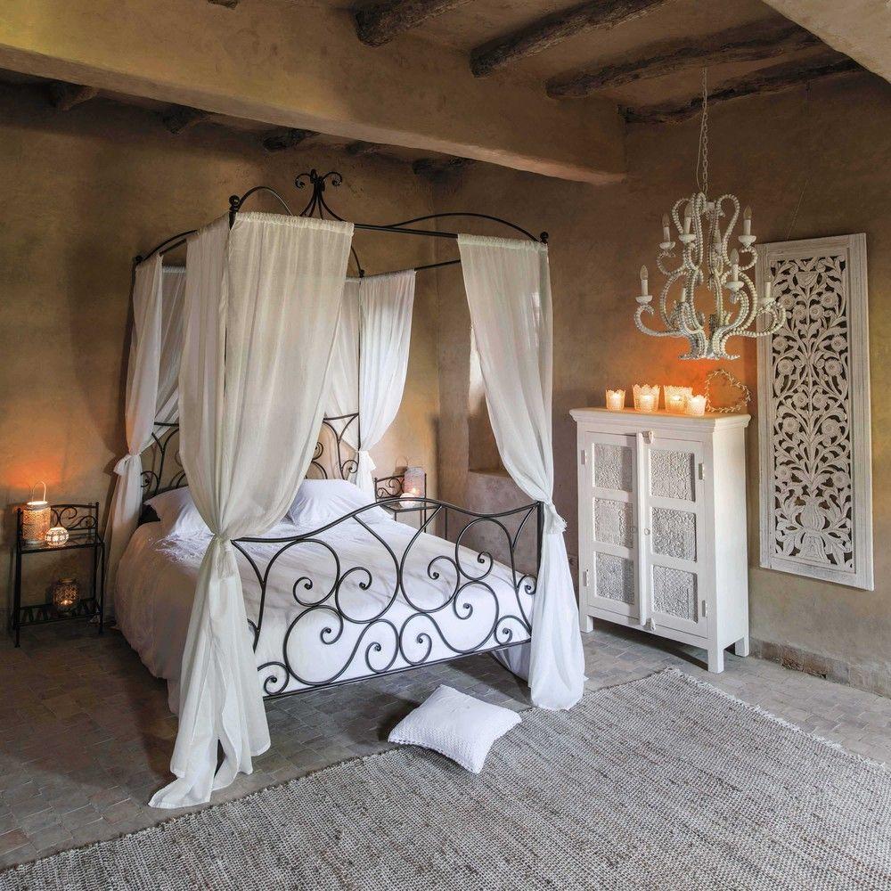 Maison Du Monde Letto Baldacchino.Letto Marrone A Baldacchino 140 X 190 In Metallo In 2019 Casa