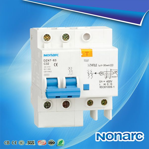 Dz47le 63 Ce Approved Elcb Circuit Breakers Electric Circuit