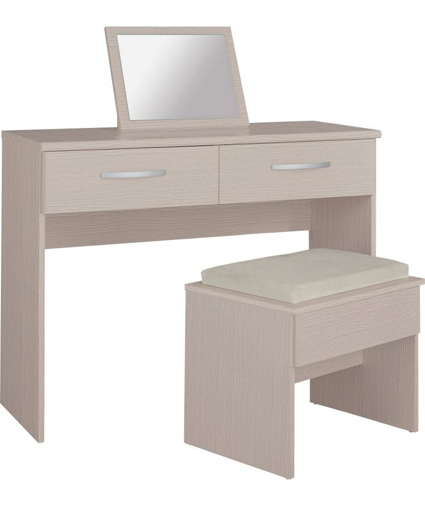Buy new hallingford dressing table stool and mirror light oak buy new hallingford dressing table stool and mirror light oak at argos geotapseo Image collections