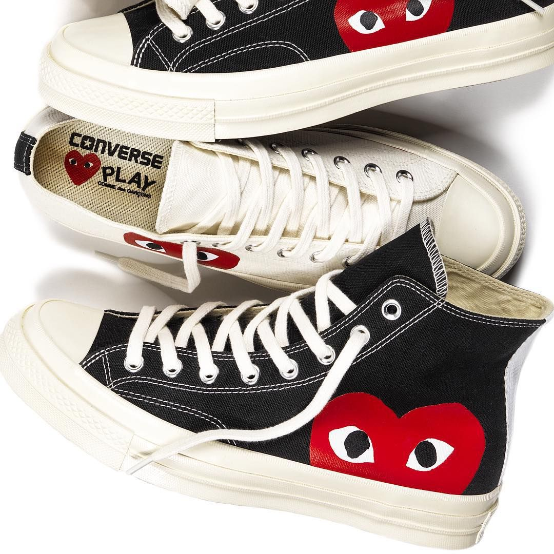play comme des garcons x converse chuck taylor all star. Black Bedroom Furniture Sets. Home Design Ideas
