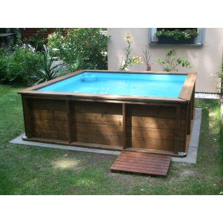 mini holzpool mit poolabdeckung 2 x 2 m gartengestaltung pinterest poolabdeckung kleine. Black Bedroom Furniture Sets. Home Design Ideas