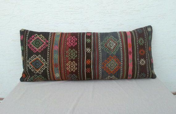 16x40 inchLong Decorative Pillow Lumbar Vintage by pillowsstore, $167.00