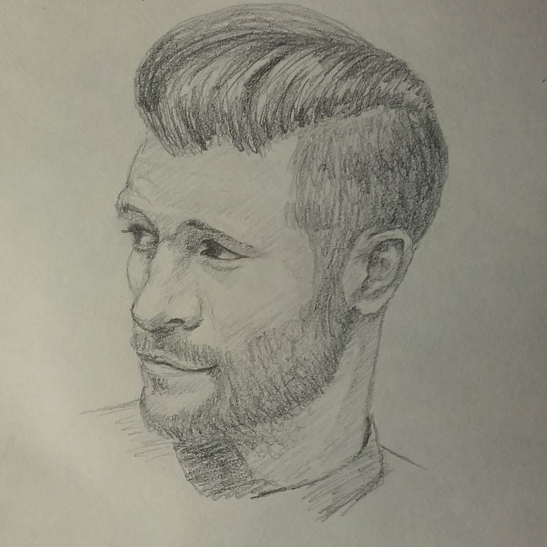 Mysketchbook ch page 4 guy man beard hairstyle pencil drawing sketch myart art portrait art 40minutes