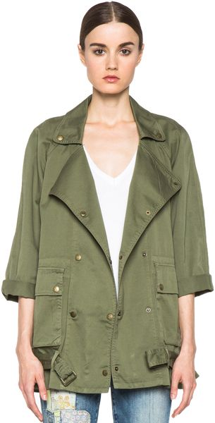 CURRENT/ELLIOTT | The Infantry Jacket in Army - Lyst