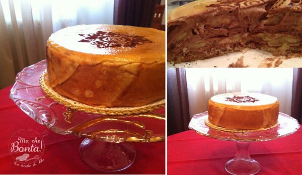 Torta di crepes banane e cioccolato (Banana and chocolate no bake cake) | Ma che Bontà