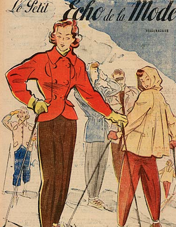 Skimode der #1940er Jahre - #SkiFashion in the #1940s | Winter ...