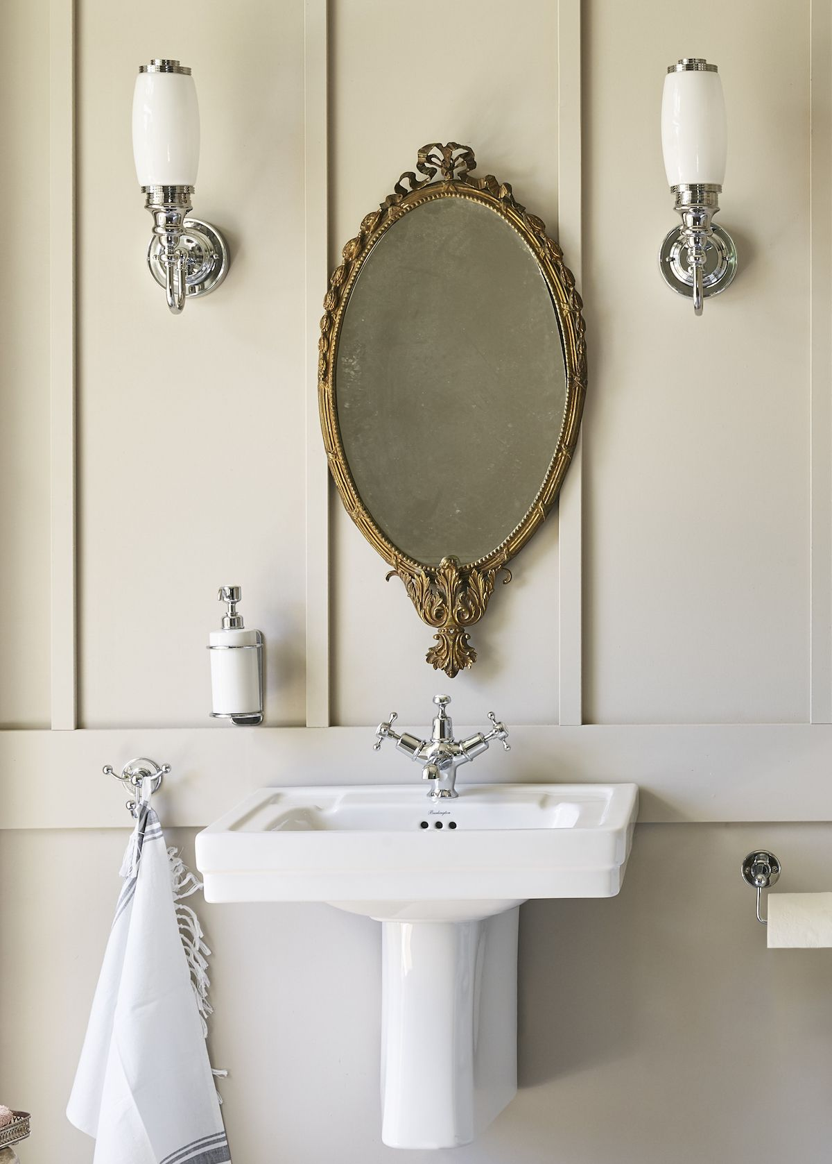Victorian 61cm Basin Semi Pedestal In 2020 Bathroom