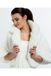 boleros-en-faux-vison-fourrure-accessoires-mariage-mariee-ceremonie ... f6cb90c50ac