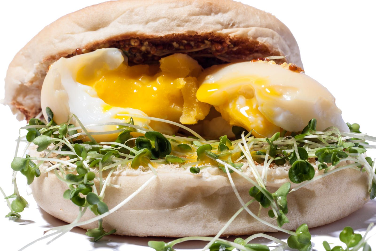 Smoked Egg Sandwich with Greens and Dijon Mustard Recipe