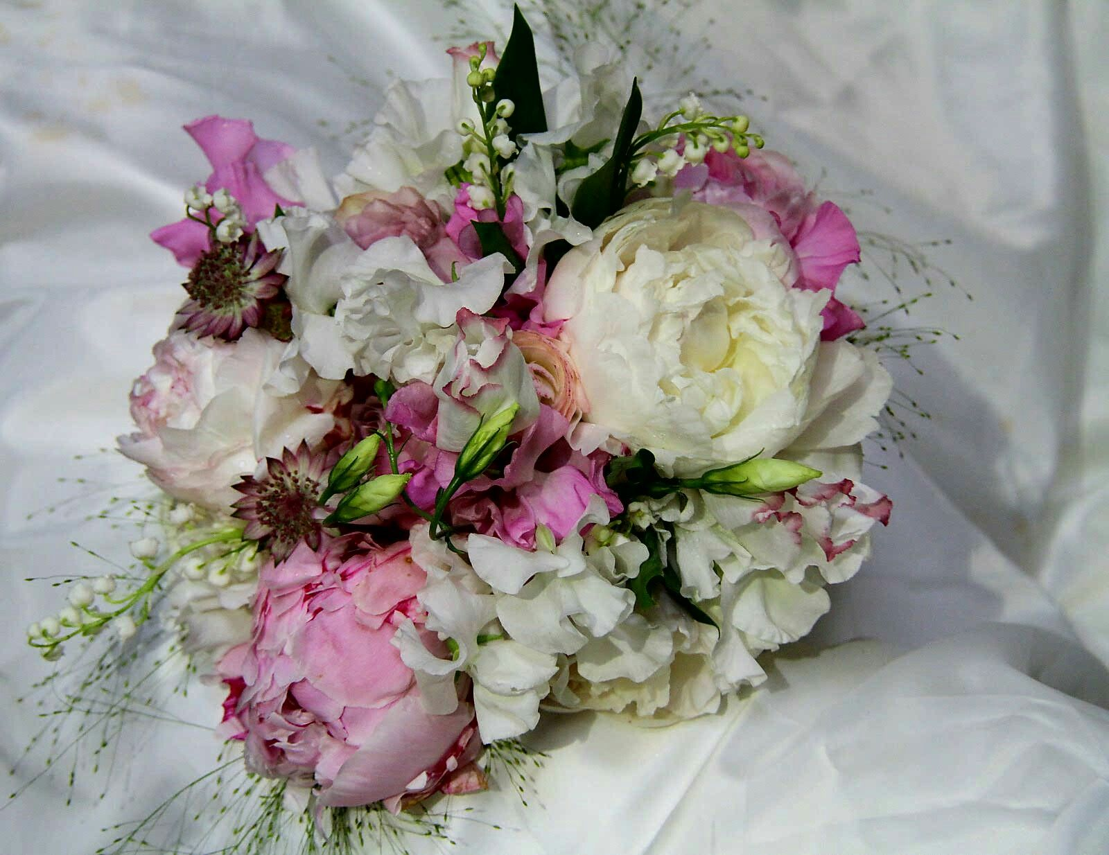 Dreamy Wedding Bouquet Arranged With: White Lily Of The