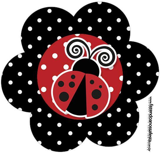 flor joaninha fiesta mariquita pinterest marienk fer basteln fr hling und applikationen. Black Bedroom Furniture Sets. Home Design Ideas
