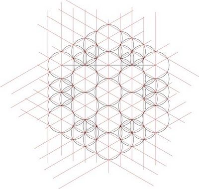 Metatrons Cube from Isometric Grid