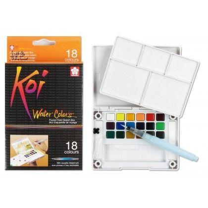 Sakura Koi Water Colors Brush Set - 18 kleuren