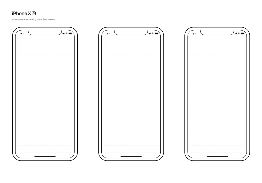 Free Iphone Xs Wireframe Template Wireframe Template Templates