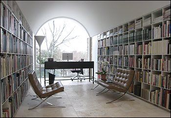 Architect Hugh Newell Jacobsen and His Egg-Crate Bookshelves - Forbes