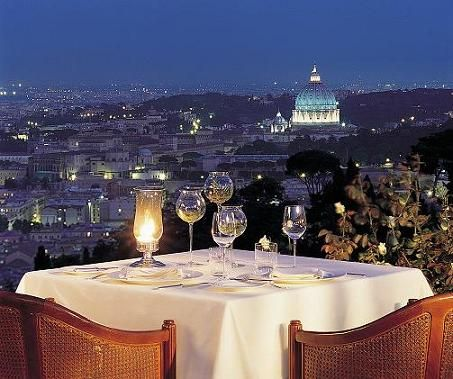 This is sublime rooftop dining. Roma, Italia, Cenas