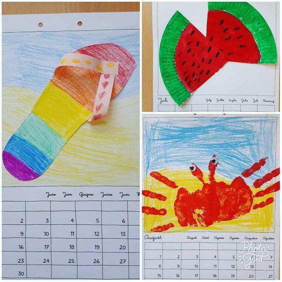 """Aus dem Leben einer Lehrerin on Instagram: """"Unsere Kalenderbilder für Juni, Juli und August. Da nächste Woche die Ferien anstehen haben wir schon mal einen Monat vorgearbeitet. Was…"""""""
