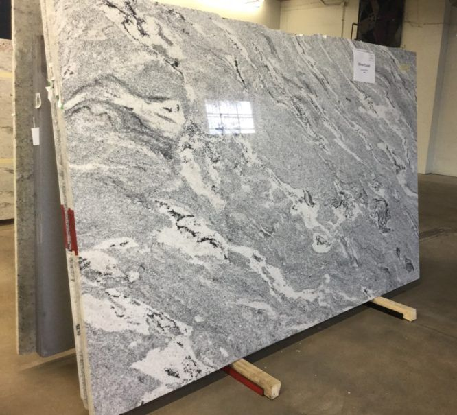 Silver Cloud Slabs · Painted Kitchen CabinetsGranite KitchenKitchen  CountertopsKitchen ...
