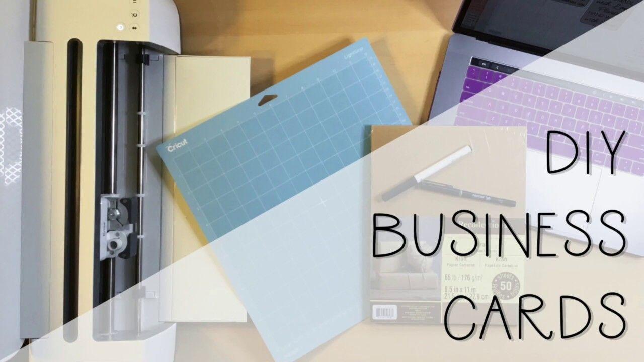 Cricut diy business cards make business cards