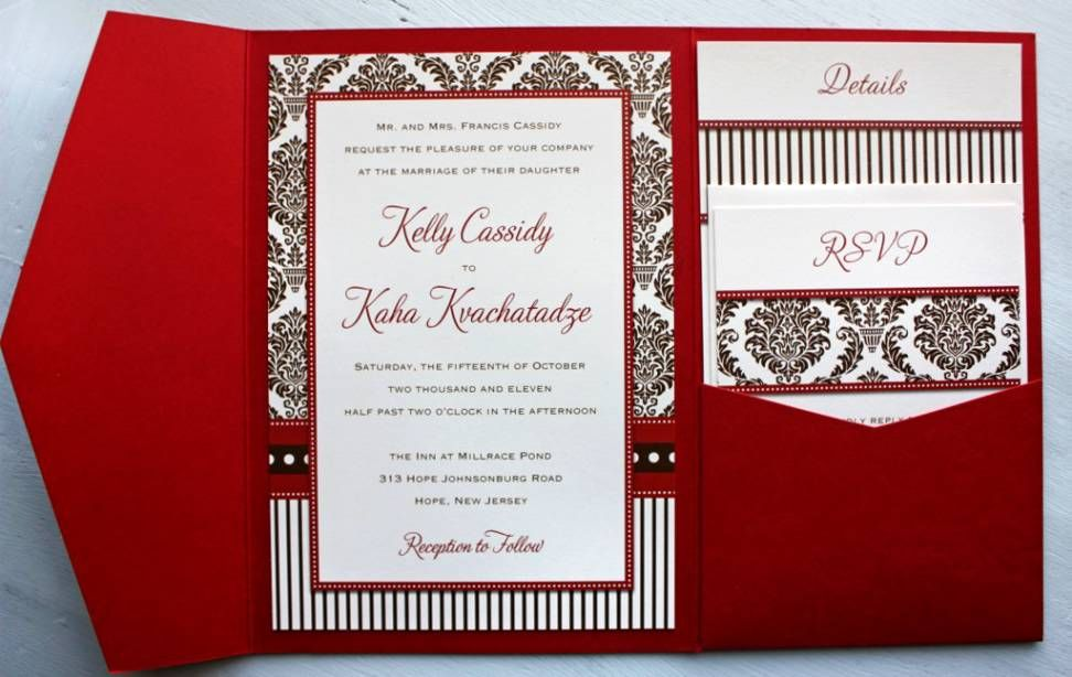 White And Red Wedding Invitations: Black White And Red Wedding Invitations