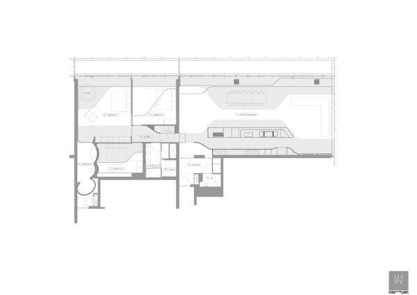penthouse wohnplan ideen | Architektur – moderne Häuser und Gebäude ...