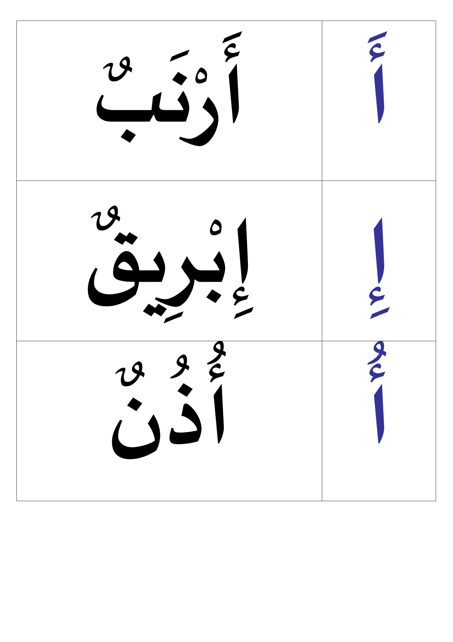 Lettres harakates et mots   مطبوعات اللغة العربيه   Pinterest