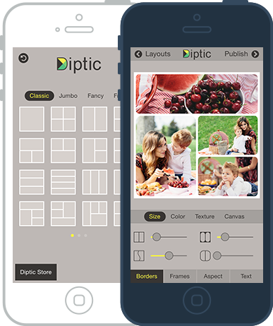 Diptic, app for iPhone, iPad and iPod Touch