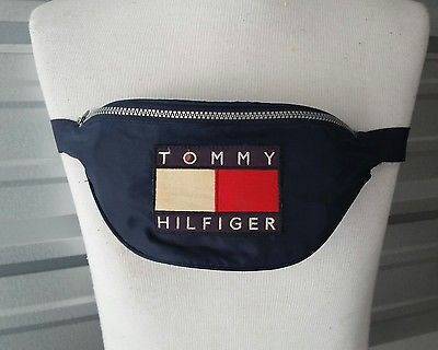 TOMMY HILFIGER Fanny Pack Vintage Nylon 90s Waist Bum Bag COLOR BLOCK c54001cdbd