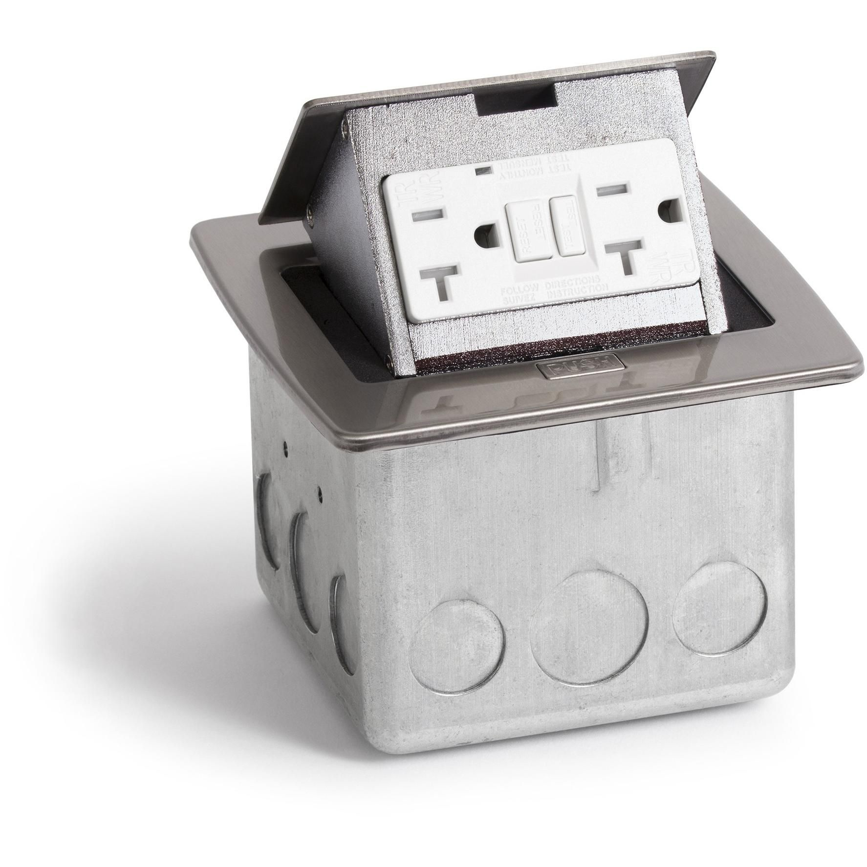 Kitchen Countertop Pop Up 20A GFI Protected Power Outlet, Stainless ...