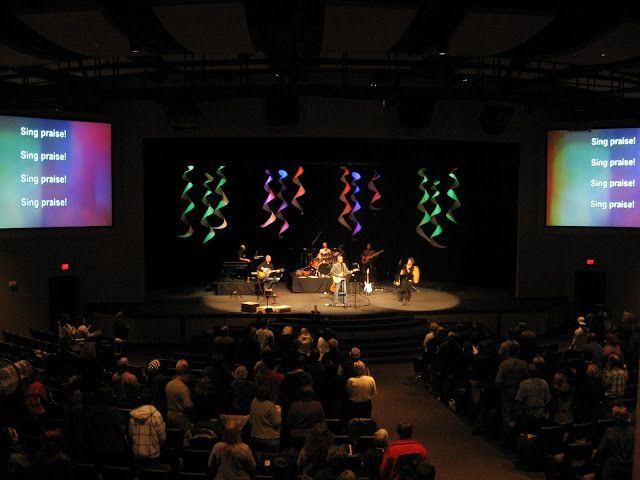 Dropped Spirals from Lake City Community Church in Coeur d Alene, Idaho | Church Stage Design Ideas