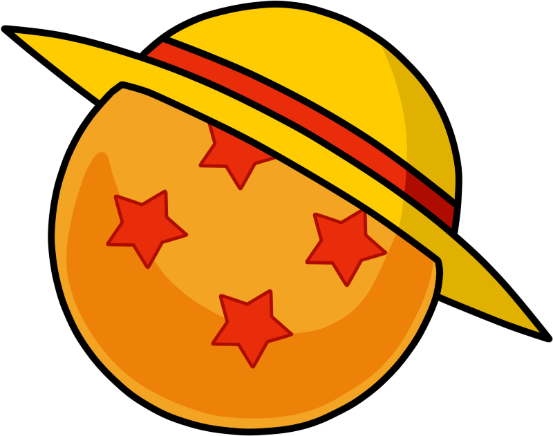 Dragon Ball X One Piece Logo 4 Star Dragon Ball Luffy S Straw Hat If You Post This Anywhere Please Credit M Dragon Ball Tattoo One Piece Logo Dragon Ball
