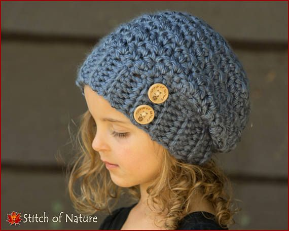 Crochet PATTERN - The Woodridge Slouchy Hat Pattern (Toddler to ...