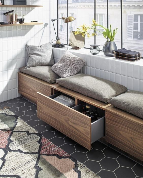 Seat storage benches ideas outdoor banquette lobby interior also best my home inspiration images diy for living rh pinterest