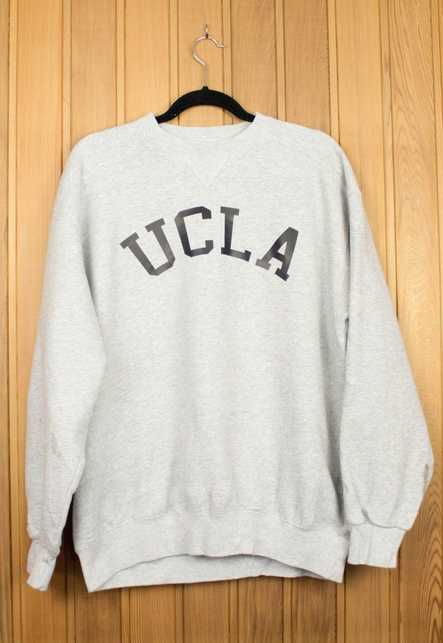 Vintage Reworked 1990s Grey UCLA Sweatshirt £25