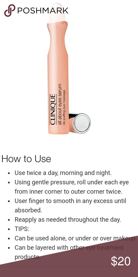 Clinique All About Eyes Serum Roller Ball Clinique Eye Serum All About Eyes
