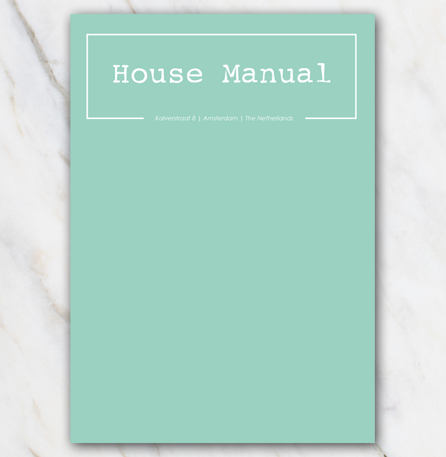 House Manuel Airbnb with green cover in 2019 | Airbnb House Manuals