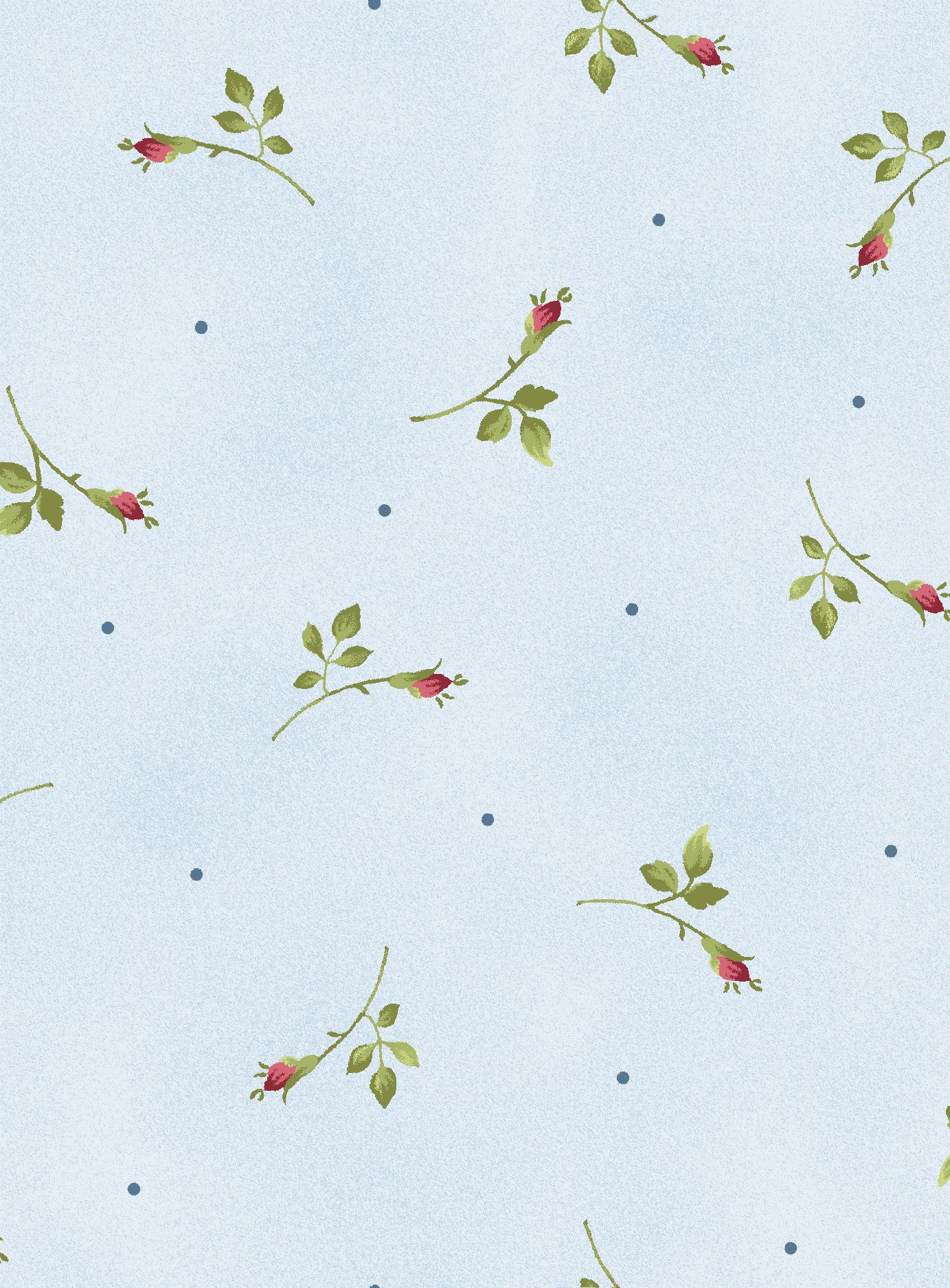 Rose Rosebud Quilt Quilting fabric Blue Rosebuds sage green fabrics by the yard
