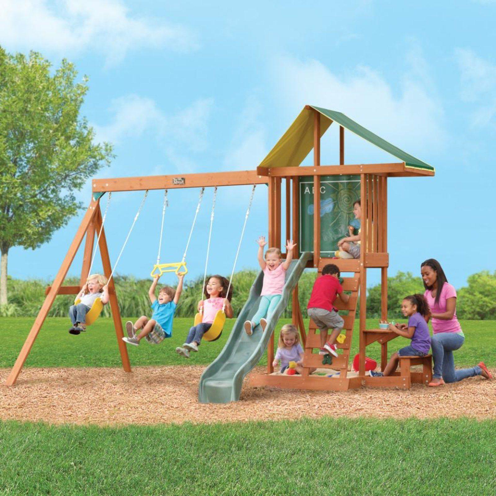 Big Backyard Springfield II Wood Swing Set | Wood swing ...