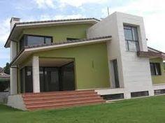 Resultado De Imagen Para Gama De Verde Para Exteriores Fachadas De Casas Exteriores De Casas Pinturas De Casas Colores Casas Exteriores
