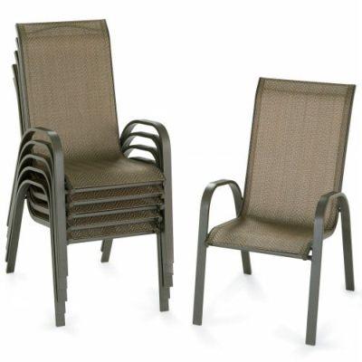 Description: Outdoor Oasis Patio Avondale Stackable Sling Chairs .