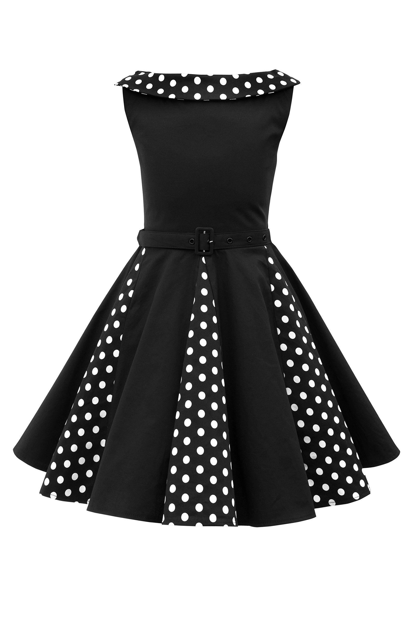 9a8cbd7b9 BlackButterfly Kids  Alexia  Vintage Polka Dot 50 s Girls Dress ...