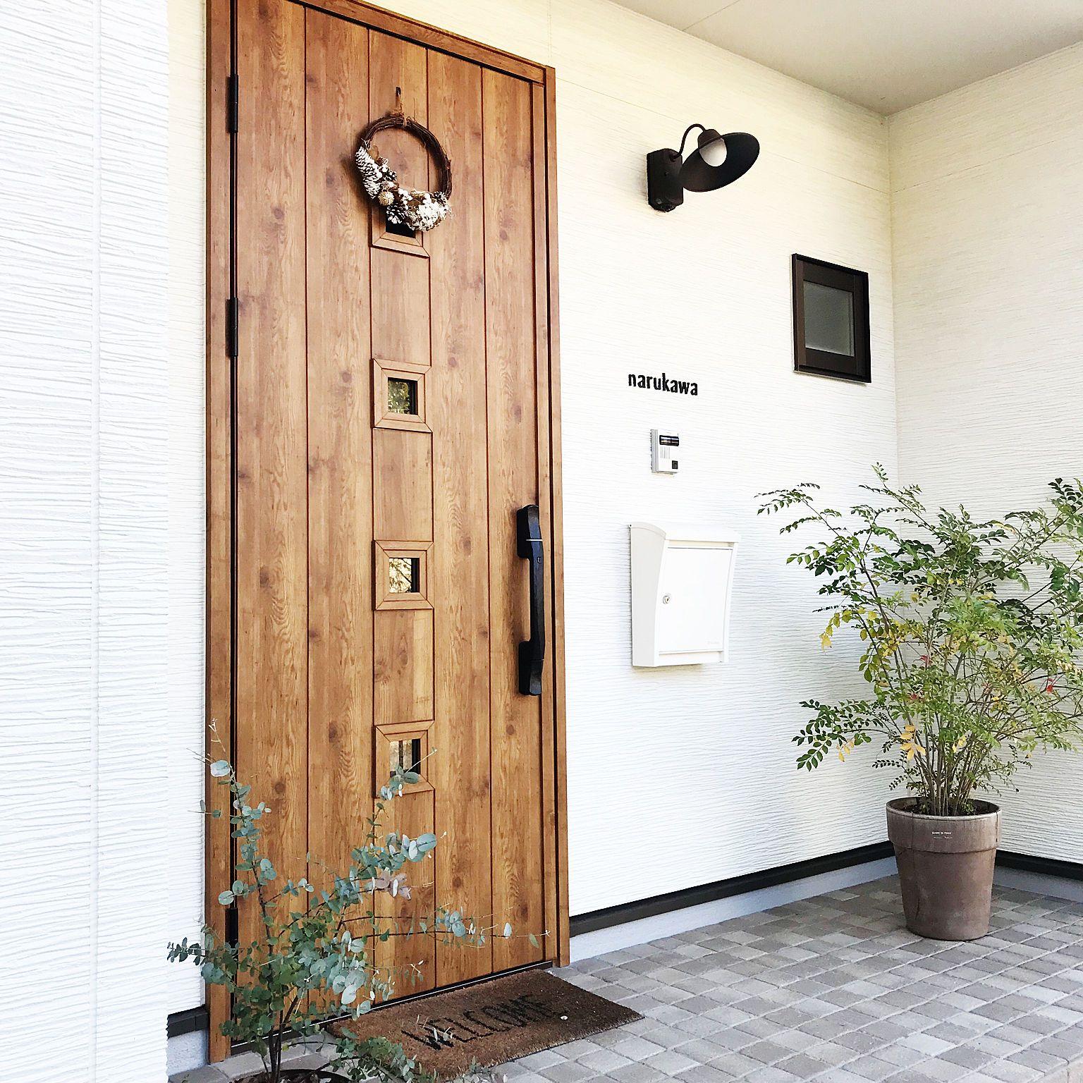 玄関 入り口 クリスマスリース リース 玄関ドア Ykk 玄関タイル など