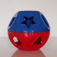 A toy that never goes out of style - Tupperware shape shaker.