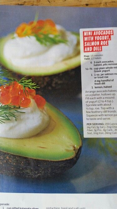 Avocados with salmon roe