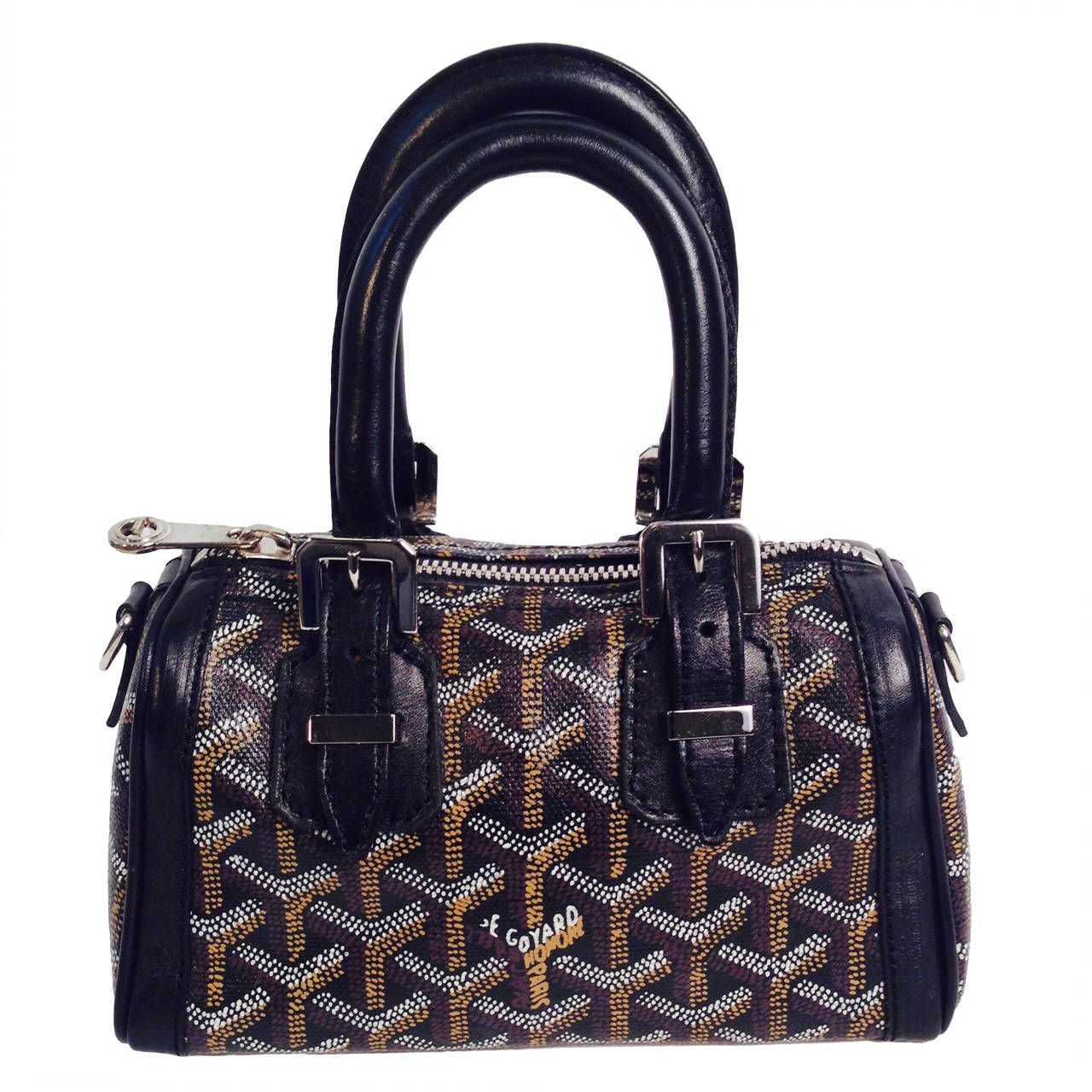 Black Goyardine Canvas Mini Crosiere Duffle Bag   From a collection of rare  vintage handbags and purses at ... 1467ba772d